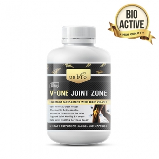 [유비바이오] 브이원 조인트 (녹용,그린머슬,글루코사민,상어연골) 360cap 관절건강 1개