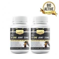 [유비바이오] 브이원 조인트 (녹용,그린머슬,글루코사민,상어연골) 120cap 무릎관절영양제 2개