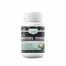 [유비바이오] 뉴질랜드 초록입홍합 25000mg(고함량) 120캡슐 1개
