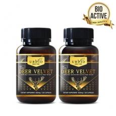 [유비바이오] 뉴질랜드 녹용(저분자녹용) 500mg 60캡슐 2개