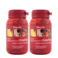 [프로라이프] 유기농 달맞이꽃종자유(갱년기영양제) 함유 로즈힙200캡슐 2개