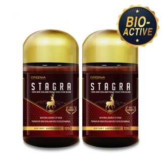 [그리니아] 스테그라 / 뉴질랜드 숫사슴 녹혈 120캡슐 2개