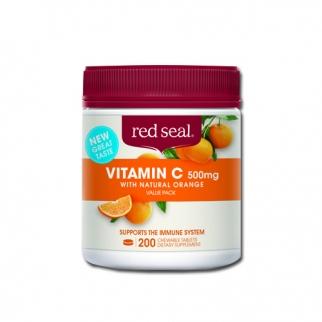 [레드실] 씹어먹는 비타민C(오렌지맛) 500mg 200정 1개