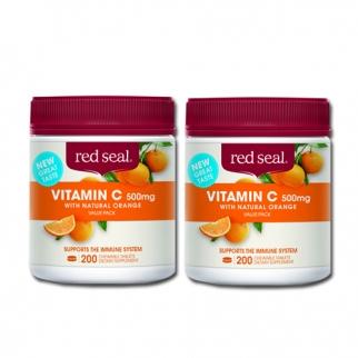 [레드실] 씹어먹는 비타민C(오렌지맛) 500mg 200정 2개