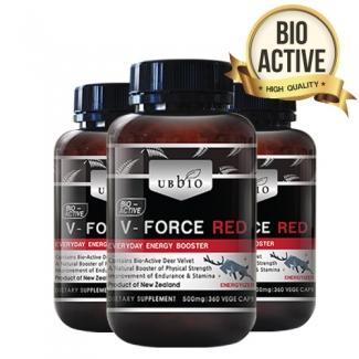 [유비바이오] 브이포스 레드(녹용,녹혈) 500mg 360tab 3개 / 피로회복