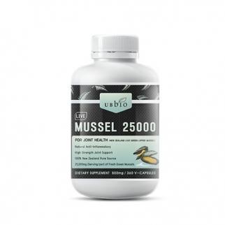 [유비바이오] 생 초록입홍합25000mg 360캡슐(고함량) 1개 무릎관절에좋은영양제