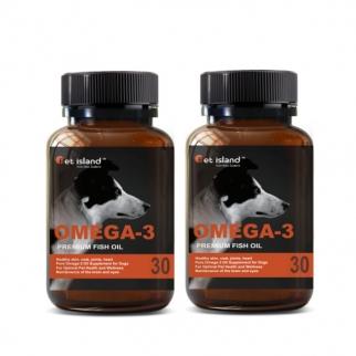 [펫 아일랜드] 오메가3 (DHA& EPA 강아지 영양제) 피부,피모 30캡슐 2개